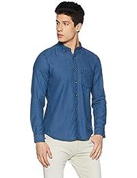 Amazon Brand - Symbol Men's Slim Fit Indigo Shirt