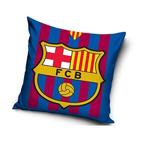FC Barcelona Dekorative Kissenhülle Kissen Fall 40X 40cm 100% Baumwolle/Jungen Schlafzimmer/Streifen - Barcelona Schlafzimmer