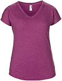 Anvil - T-shirt à manches courtes et col en V - Femme