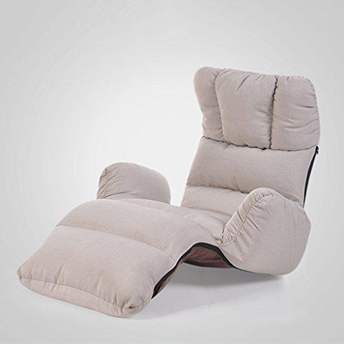 Canapé Lounger unique pliable moderne simple salon chambre balcon loisirs chaise longue (Couleur : Gris)