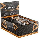 Marque Amazon- Amfit Nutrition Barre protéinée saveur caramel au chocolat, pack de 12 (12x60g)