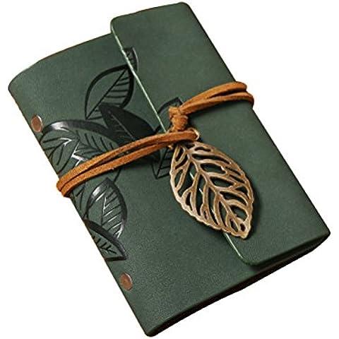 Pixnor Protector de tarjeta mangas hoja diseño imitación cuero tarjeta Pack soporte tarjeta Protector bolsa verde