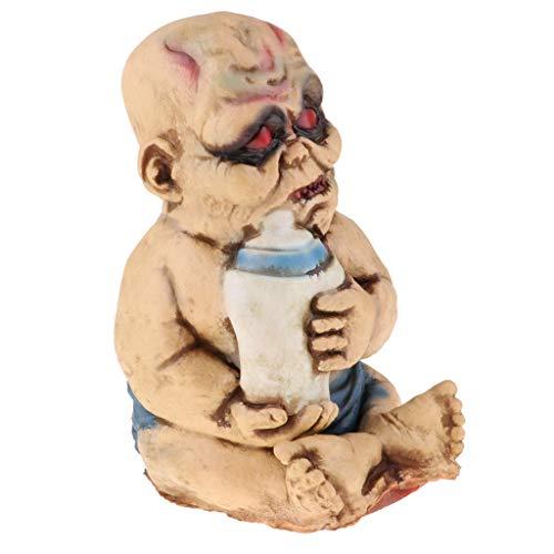 Fenteer Gruseliger Zombie Baby Puppe Halloween Party Deko Spielzeug - B