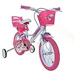 Dino-Bikes-144R-UN-Unicorn-Bike-Bianco-Rosa
