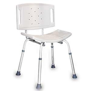 Chaise de douche-Siège de douche réglable en hauteur –pieds antidérapants