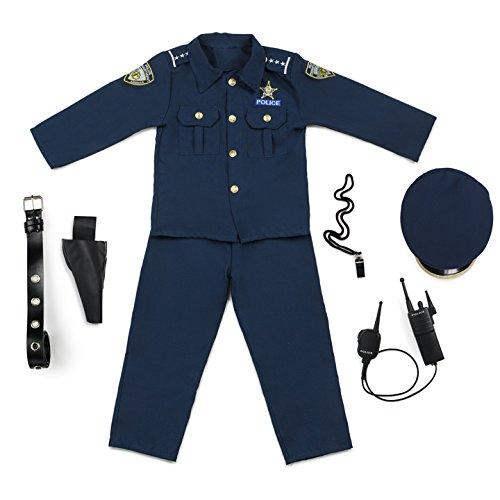 Imagen de dress up america  disfraz de policía deluxe, talla s, 4 6 años 201 s  alternativa