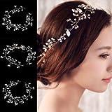 SLB Works Brand New Handmade Flower Leaf Pearl Headband Wedding Bride Hair Accessories Head Gifts