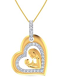 Malabar Gold & Diamonds 22KT Yellow Gold And Cubic Zirconia Pendant For Women