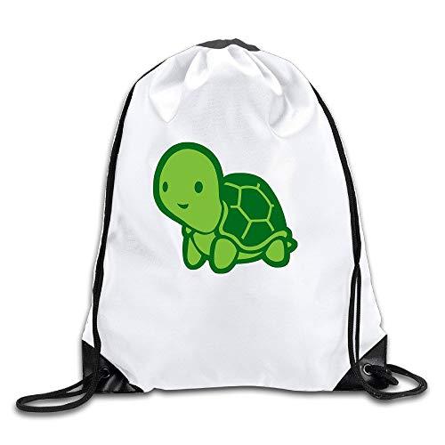 ZHIZIQIU Turtle Testudines Cold-Blooded Animal Cool Drawstring Backpack Drawstring Bag