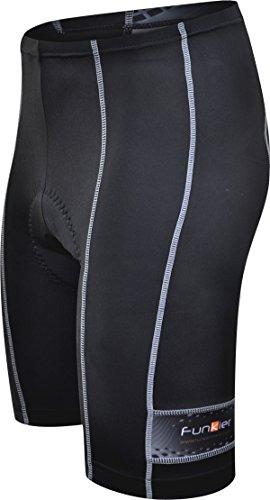 Funkier Herren-Radshorts, 10-Panel-Konstruktion, Active-Radhose schwarz - schwarz