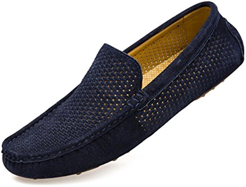 Jiuyue-scarpe Hollow Vamp da da da uomo Cucitura manuale traspirante Guida Mocassini a spillo Canotte Mocassini da barca...   Adatto per il colore  6d077f
