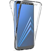 """Coque Gel Samsung Galaxy A8 (2018) (5.6"""" Pouces) , Buyus Coque 360 Degres Protection INTEGRAL Anti Choc , Etui Ultra Mince Transparent INVISIBLE pour Galaxy A8 (2018) , Coque A8"""