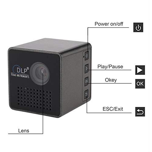 Mini 1080P Full HD LED Projector DLP WL-P1 Portable Home Movie Theater Color black