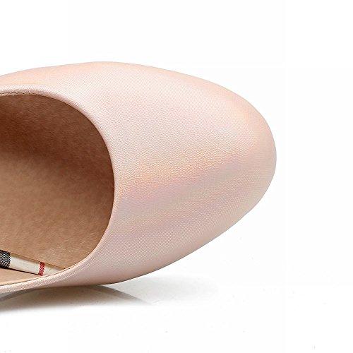 Mee Shoes Damen chunky heels runde Geschlossen Pumps Pink