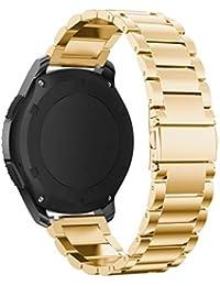 Y56 180 mm Pulseras Bands para Samsung Gear S3 Classic and Frontier auténtica Banda de Acero Inoxidable Reloj de…