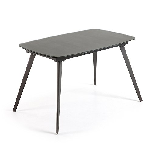Kave Home Table Extensible Smoth, 120(180) x80 cm Graphite