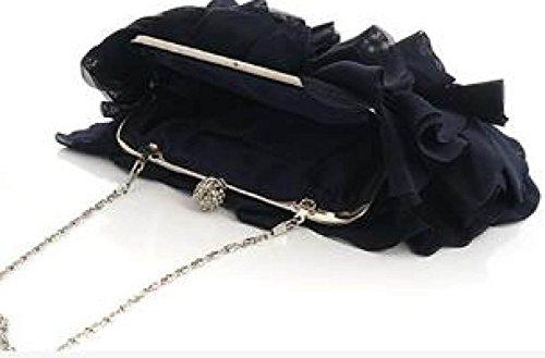 d5f4704210db5 ... Damen Bankett Abendkleid Tasche Chiffon Abendtaschen Diamond Bridal Bag  Catwalk Chain Bag Purple ...