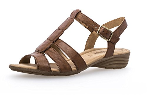 Gabor Casual Sandalette in Übergrößen Braun 84.558.54 große Damenschuhe, Größe:44