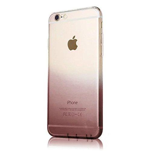 MOMDAD Transparent Coque iPhone 6S Plus TPU Étui iPhone 6 Plus Souple Silicone Coque Protection Bumper Housse Clair Doux Silicone Gel Ultra Mince Case Cover pour iphone 6 Plus / 6S Plus 5.5 Pouces Coq Gradual change-noir