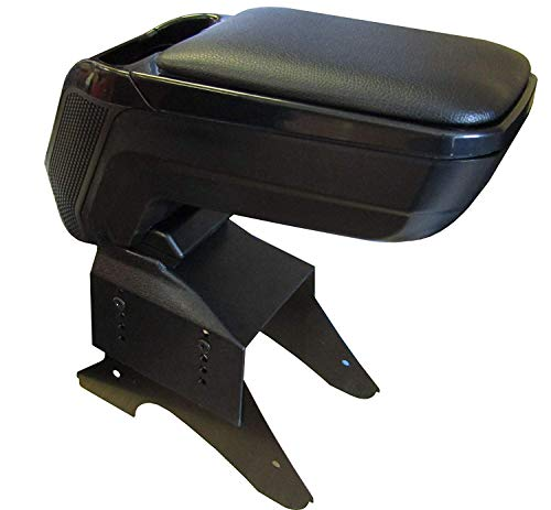 XtremeAuto™ Universal Fitting Black Armrest With Soft Padded Leather  Sliding Top - Heavy Duty XAAR-6 (Larger)