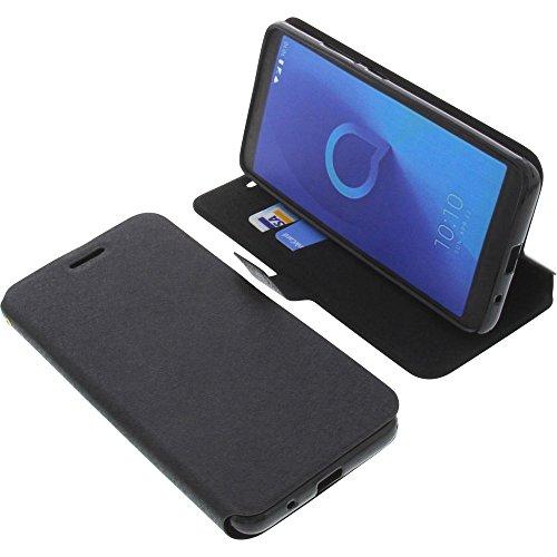 foto-kontor Tasche für Alcatel 3C Book Style schwarz Schutz Hülle Buch