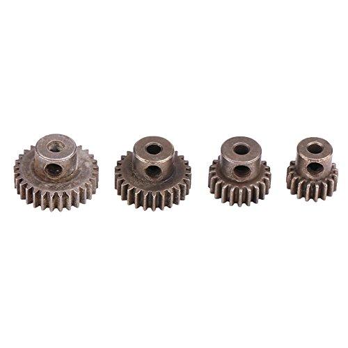 Dilwe RC Motor Gears 1/10, 21T / 29T / 17T / 26T Stahlritzel Zubehör für HSP94111 94123 1:10 RC Autos -