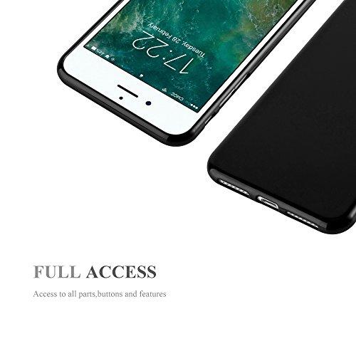 Cadorabo - TPU Ultra Slim Jelly Silikon Hülle für >             Apple iPhone 8 PLUS / 7 PLUS / 7S PLUS             < - Case Cover Schutz-Hülle Bumper in JELLY-GRÜN JELLY-SCHWARZ