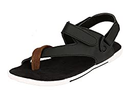Fucasso Men's Synthetic Black Sandals