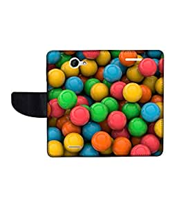 KolorEdge Printed Flip Cover For HTC Desire 516 -Multicolor (50KeMLogo11164HTC516)