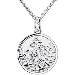 Collier pendentif Saint Christopher en argent Sterling 925 pour femmes de Farjary pour Noël