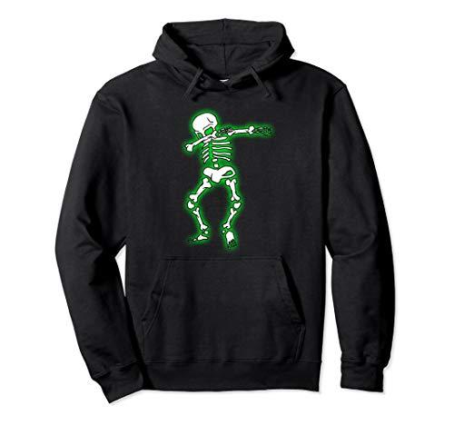Dabbing Skelett Halloween Lustiger Dab Tanz Scary Kostüm Pullover Hoodie (Tanz Kostüm Hoodie)