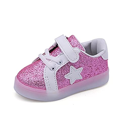 Baby LED Luminous Shoes Fashion Star Sneaker Child Toddler Casual