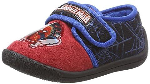 Spiderman Jungen SP004413 Hausschuhe, Rot (Red/Black/C.Blue), 26 EU