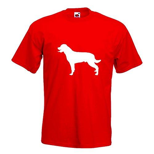 KIWISTAR - Rottweiler Hunderasse Dog T-Shirt in 15 verschiedenen Farben - Herren Funshirt bedruckt Design Sprüche Spruch Motive Oberteil Baumwolle Print Größe S M L XL XXL Rot