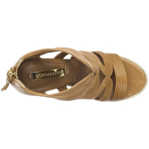 BCBG Max Azria Kadence Leder Keilabsätze Sandale Royal Tan