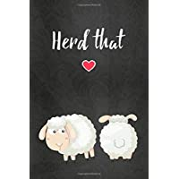 Thick Notebook: Lined Journal (120 Pages) - Sheep gifts for women (Gag Gifts)