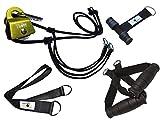 BodyCROSS PREMIUM Schlingentrainer mit Umlenkrolle | Poster mit Übungen, 10-Wochen Trainingsplan, Türanker und Befestigungsschlaufe | Slingtrainer mit Umlenkrolle | Made in Germany | 10 Jahre Garantie