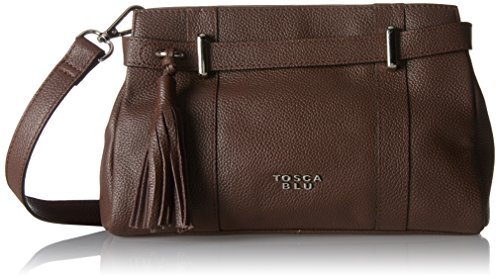 Tosca Blu Damen Daily Mail Tornistertasche, 7x14.5x24 cm Braun (Brown)