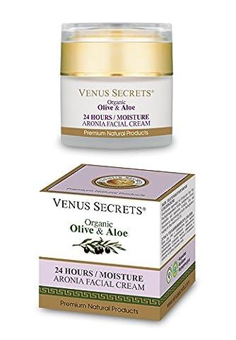 Venus Secrets 24 Hours/Moisture Facial Cream with Organic Olive & Aronia by Venus Secrets