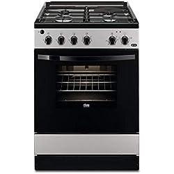 Faure fcm640hcsa-cuisiniere Table Mixte gaz/électrique-4 foyers-Four électrique-catalyse-56 l-a-l 60 x h 88,9 cm-Silver
