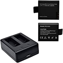 Campark 1050mAh bateria recargable USB adaptador cargador de bateria para campark Cube cámara de acción sjcam sj4000 sj5000 sj6000 sj7000