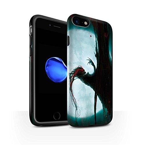 Offiziell Chris Cold Hülle / Matte Harten Stoßfest Case für Apple iPhone 7 / Gevatter Tod Muster / Dämonisches Tier Kollektion Dramargu/Vollmond