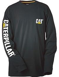Caterpillar Kingsize Trademark Banner L/S T-Shirt Heather Grey