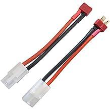 Conector Tamiya a decanos T tipo de enchufe de cable para el regulador de velocidad de RC batería de salida