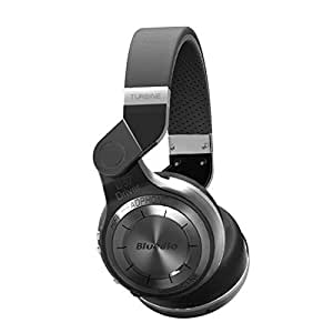 Bluedio T2 (Turbine 2) Bluetooth Stereo Headphones Wireless Bluetooth 4.1 Headset on the Ear Headphones (Black) by Bluedio