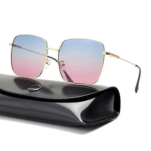 rezi Sonnenbrillen, polarisierte Sonnenbrillen für Männer Frauen, Nylongläser und unzerbrechliche Edelstahlrahmen mit verstellbaren Silikon Nasenpads zum Fahren, Angeln, Reisen, Mode-Accessoires