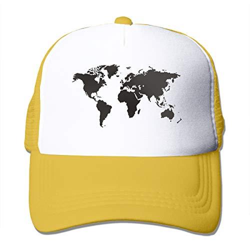 Bgejkos Schwarze und weiße Weltkarte Coole Snapback Cap Fit Cap für Männer und Frauen (Weltkarte Cap)