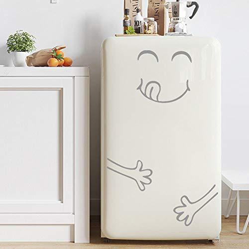 ufkleber Kühlschrank Glücklich Köstliche Gesicht Küche Kühlschrank Wand Aufkleber Kunst (Grau) ()