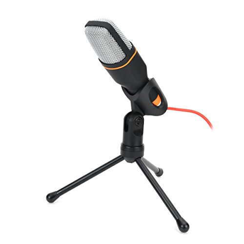 SYM® PC Laptop Audio Recording Kondensator Microfon Studio Aufnahme Computer Schwarz drehbar