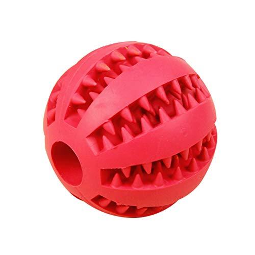 Babysbreath17 Alimentador de bolas 5,2 cm / 7 cm de perro de juguete de goma de limpieza de dientes bolas animal doméstico del perro del gato del perrito de la elasticidad de los dientes Chew Toys rojo 5.2cm